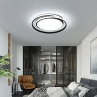 Omicron Modern Led Chandeliers Round Aluminum Simple Lamp For Livingroom Bedroom Indoor Black White Chandeliers Fixtures