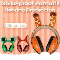 High Quality Adjustable Hearing Protection Safety Sound Ear Muff Ear Defenders Ears Protectors Cute For Children Baby Safe