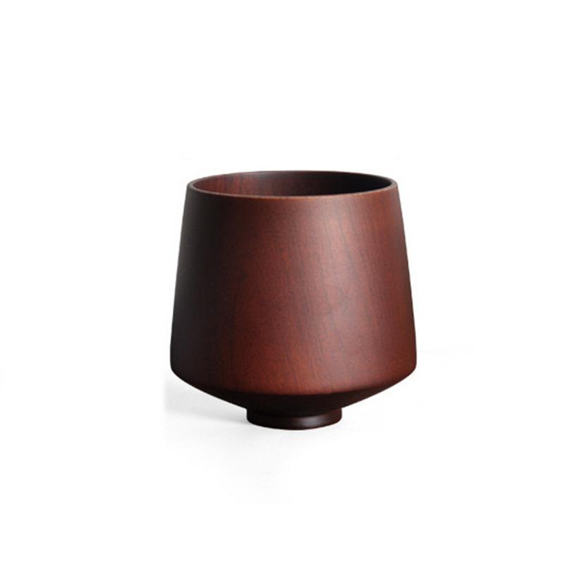 CoöPeratieve Japanse Houten Tipping Cup Jujube Hout Wijn Cup Koffie Thee Melk Container Voor Thuis Keuken Bar Restaurant Producten Worden Zonder Beperkingen Verkocht