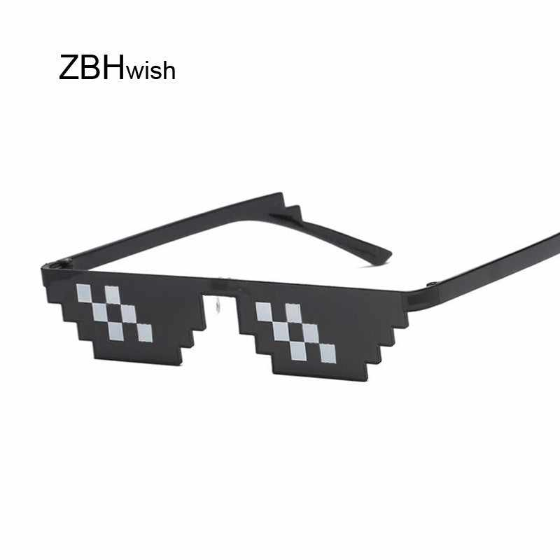 82e326458843 Glasses 8 Bit MLG Pixelated Sunglasses Women Men Brand Thug Life Party  Eyeglasses Ladies Vintage Female