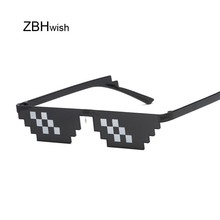 Glasses 8 Bit MLG Pixelated Sunglasses Women Brand Thug Life Party Eyeglasses La
