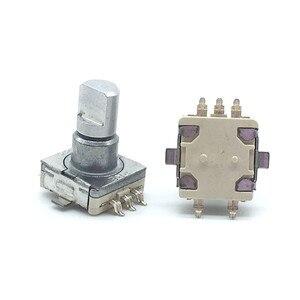 5 шт./лот, поворотный переключатель датчика EC11 с кнопочным переключателем, 30 позиций, 5pin SMD, Длина ручки 12,5 мм, полувал