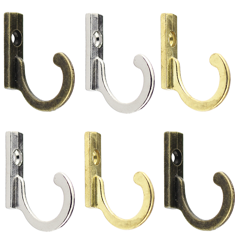 Wall Mounted Single Prong Hook For Coats Hot Sale Cloth Hanger Home Supplies 5PCS/Set Retro Mini Hats Storage Hooks Keys Towels