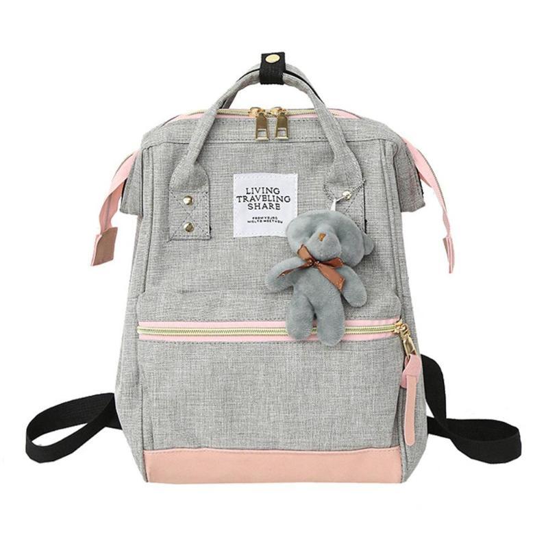 22a7cdd965 pink Grey Sacs À army Green De Ours pink Style black Dos D'école Femmes  Adolescente ...