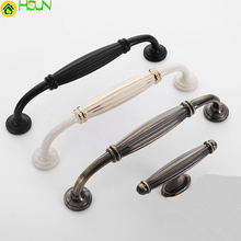 1pc Knobs and pulls for cabinets poignee meuble Kitchen furniture Door Handles Simple Black handles Z-0476