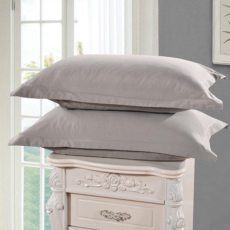Light Blue Color Pillow Cases Solid Color 100% Polyester Pillowcases Brief Style Pillow Case Cover 1 Piece 48cm*74cm5
