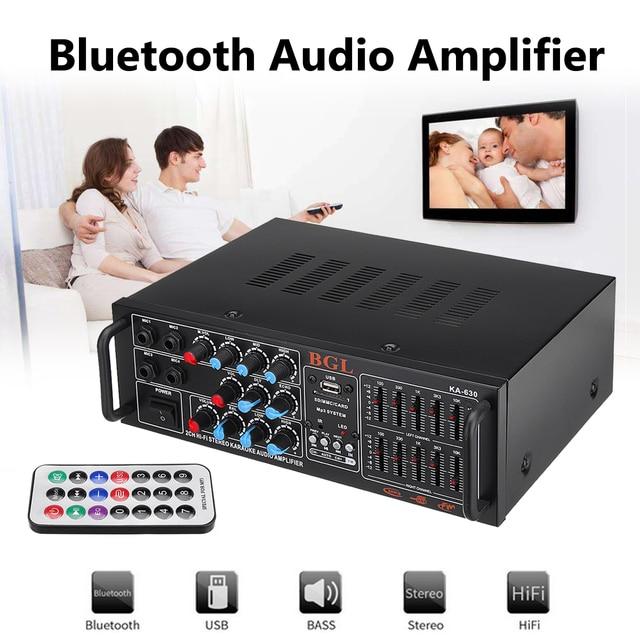 Cheap 200W EQ Bluetooth Stereo Audio Power Car Amplifier Mixer Disco Karaoke FM Radio Music Player Home Theater Amplifiers Audio