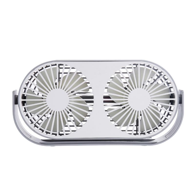 Color : Gray, Size : One Size USB Table Desk Personal Fan 360 Degree Adjustable Angle Desktop Double-Headed Aromatherapy Fan Home Desktop USB Mini for Home Office Table