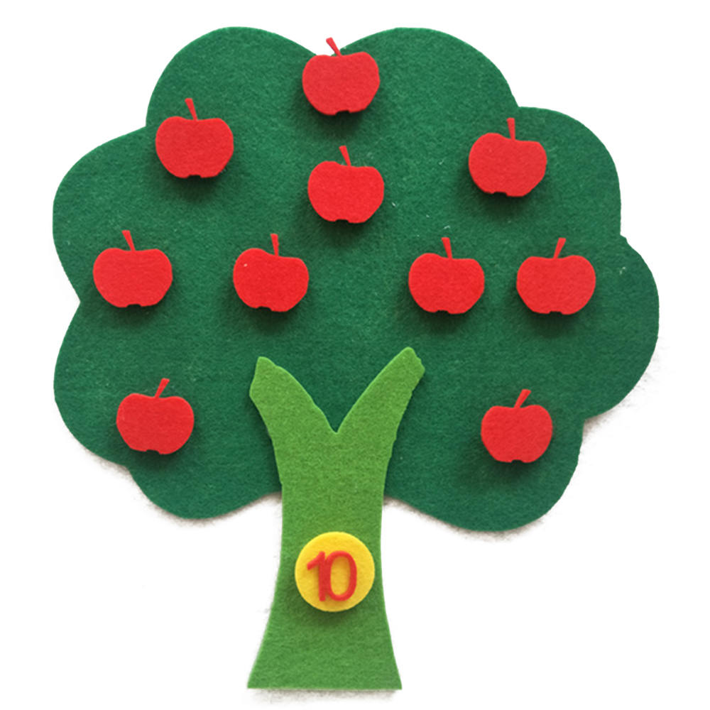 Felt Cloth DIY Craft Supplies Children Education Cognitive Apple Tree Felt Cloth Handmade Craft  Kids Gifts