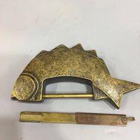 Chinese Antique Brass squid carp lock