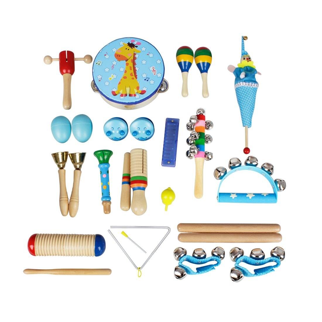 22pce/set Instruments de musique ensemble enfants petite enfance musique Percussion jouet combinaison maternelle aides pédagogiques