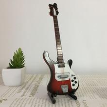 20cm מיניאטורות עץ חשמלי בס גיטרה דגם עבור 1/6 פעולה איור אבזרים #4