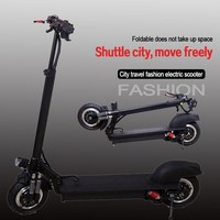 10-inch double-drive electric bicycle Mini folding skateboard bicycle Adult scooter