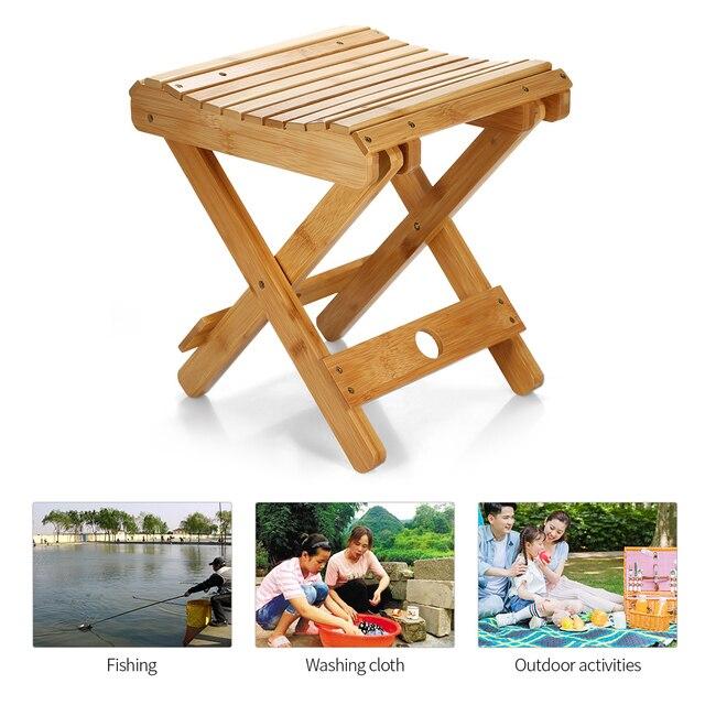Natuurlijke Bamboe Draagbare Klapstoel Vissen BBQ Vouwen Kruk Inklapbare Stoel Camping Klapstoel Outdoor Wandelen Seat