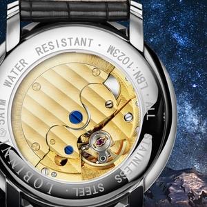 Image 4 - Relógio suíça lobinni masculino, relógios de marca de luxo de pulso seagull sapphire mecânico automático masculino L1023 2