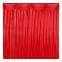Large Silk Satin Wedding Stage Backdrop Curtain Drape Party Decoration Detachable Swag 5 Colors Birthday Party Wedding Supplies