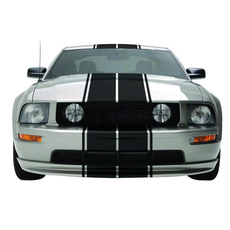 Racing Style Dual Rally Stripes Graphics Vinyl Decals Mustang GT Car Full Body Sticker Accessories
