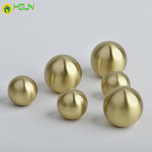 1 pc Gold Round shape Solid Brass Cabinet Knobs and Handles Cupboard Wardrobe Vintage Drawer Pull