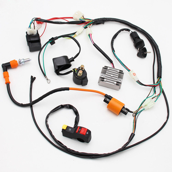 Arnés de cableado completo Loom solenoide bobina regulador CDI 150cc-300cc ATV Quad Bike