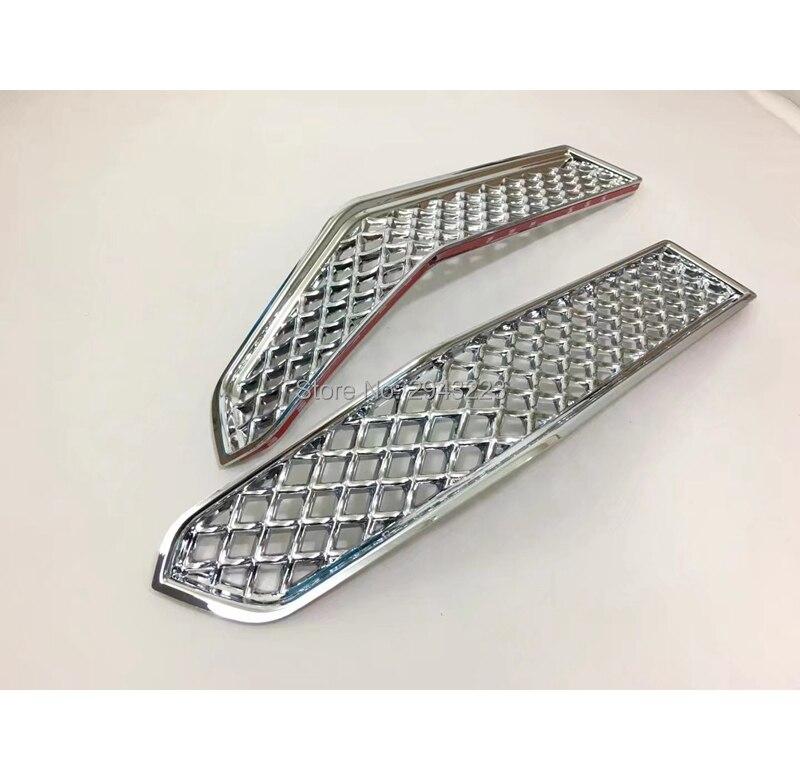 SHCHCG ABS Chrome maille avant inférieur Center course Grille Grille décoration 2 pièces pour Toyota Cruiser Prado FJ150 FJ 150 2018 - 4