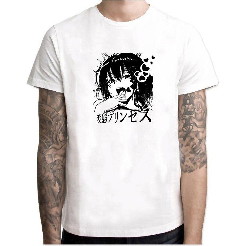 6b64d89e Ahegao Shirt Sexy Face Anime Cosplay Clothes Hentai Manga Gift Otaku T-Shirt  Short Sleeve Popular T Shirt Hipster Cool Tops