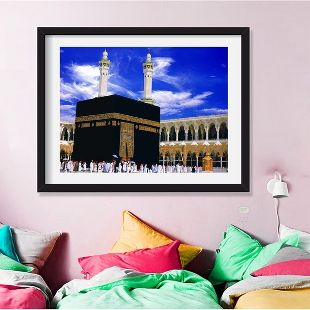 HUACAN 5D DIY Diamond Painting Full Square Diamond Mosaic Mosque Embroidery Religion Decor Home Islamism