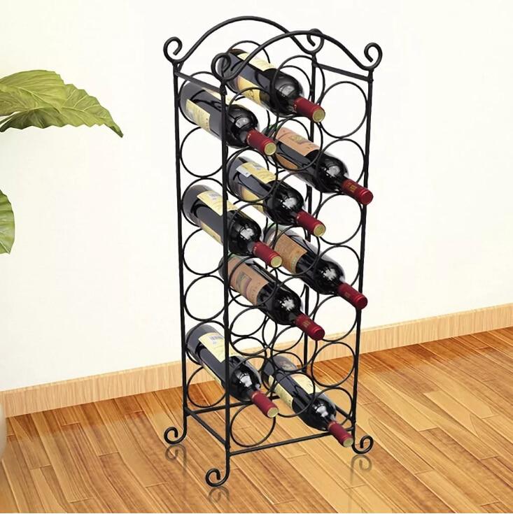 vidaXL Wine Rack for 21 Bottles Metal wine stand wine bar bottle iron art European HallvidaXL Wine Rack for 21 Bottles Metal wine stand wine bar bottle iron art European Hall