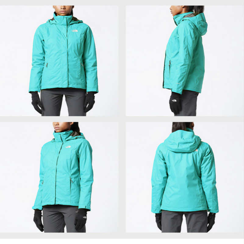 633024635 The North Face Women Hiking Cotton Jacket Three In One Outdoor Sports  Waterproof Winter Comfortable Windproof Clothing 3CGT