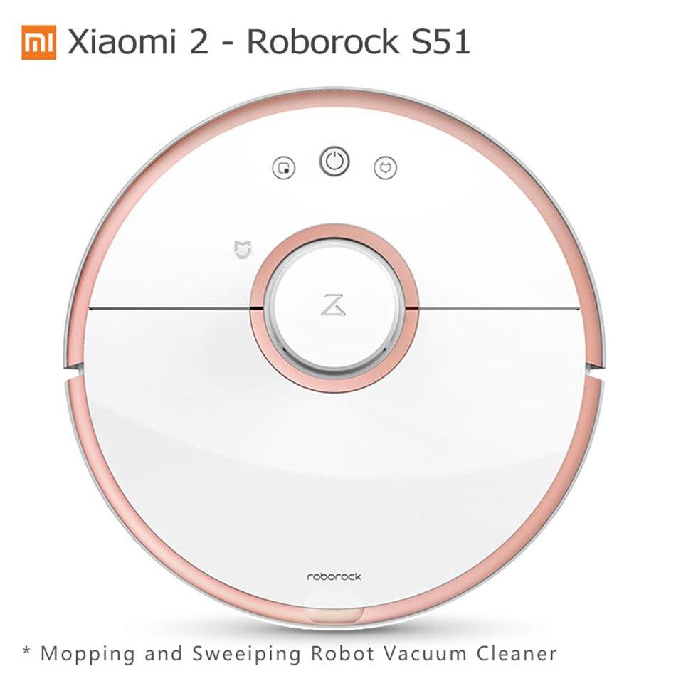 Xiao mi Robot Aspirateur Roborock S50 S51 mi jia Essuyant Robot de Balayage Aspirateur À Distance Mobile Téléphone mi APP wifi Contro