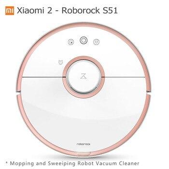 Xiaomi Mi Robot Vacuum 2 Generation Roborock S50 Wet Mopping Sweeping  Cleaner Original Xiaomi Mihome Mijia APP Control S51 S55