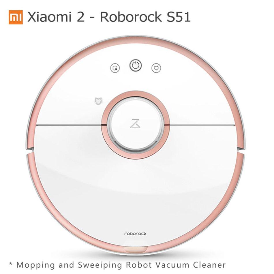 Xiaomi Robot Vacuum Cleaner Roborock S50 S51 Mijia Mopping Sweeping Robot Vacuum Cleaner Remote Mobile Phone Mi APP Wifi Contro