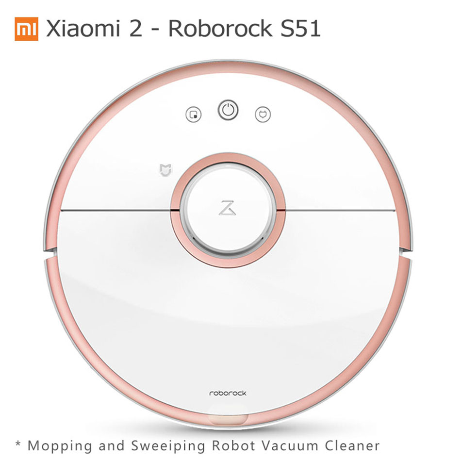 Xiaomi Robot Aspirateur Roborock S50 Humide Essuyant Robot de Balayage Aspirateur Mijia Mihome APP Wifi Télécommande S51 S55