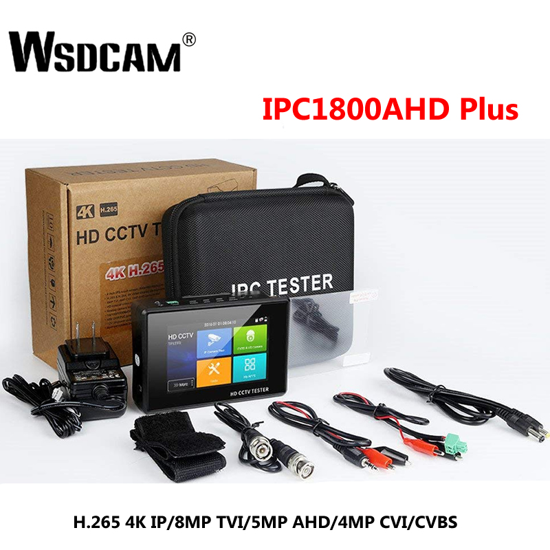 Wsdcam Newest 4 Inch Wrist CCTV HD Camera Tester H.265 4K IP 8MP TVI 4MP CVI 5MP AHD Analog 5-in-1 CCTV Tester Monitor With WIFI