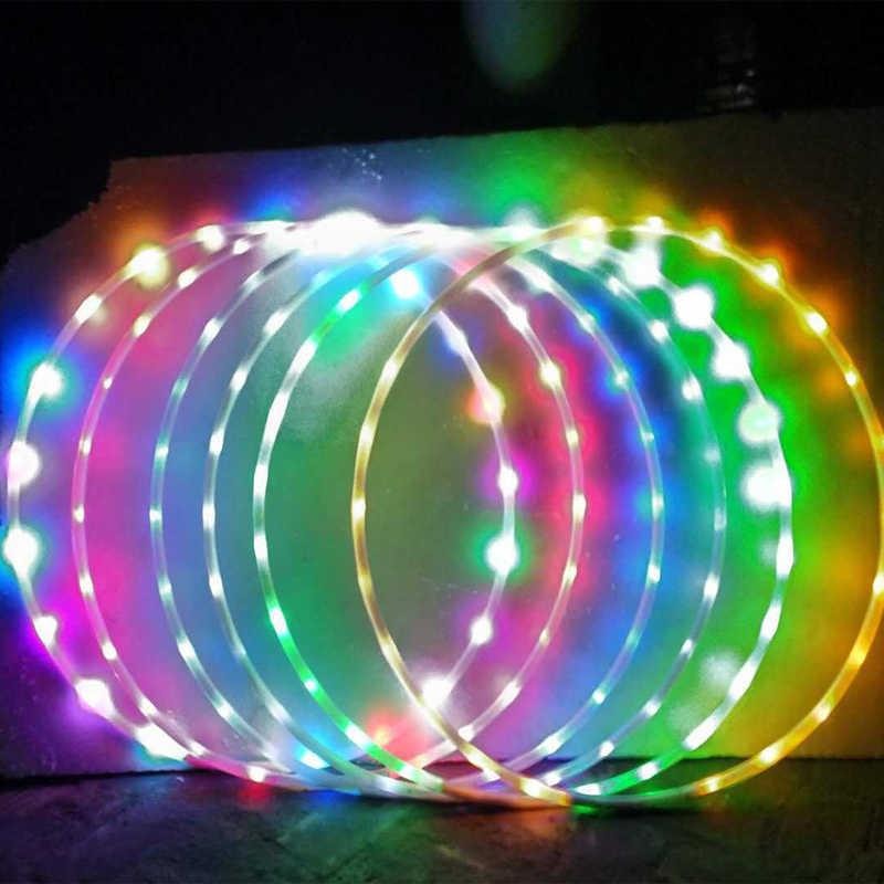Aros LED desmontable colorido círculo de Fitness que realiza pérdida de grasa Abdominal ligero Fitness Crossfit equipos de masaje aro deportivo