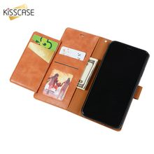 KISSCASE Retro Leather Flip Case For iPhone 8 7 6S 6 X XR XS Max 5S SE Card Holder Phone Cases Funda Capa