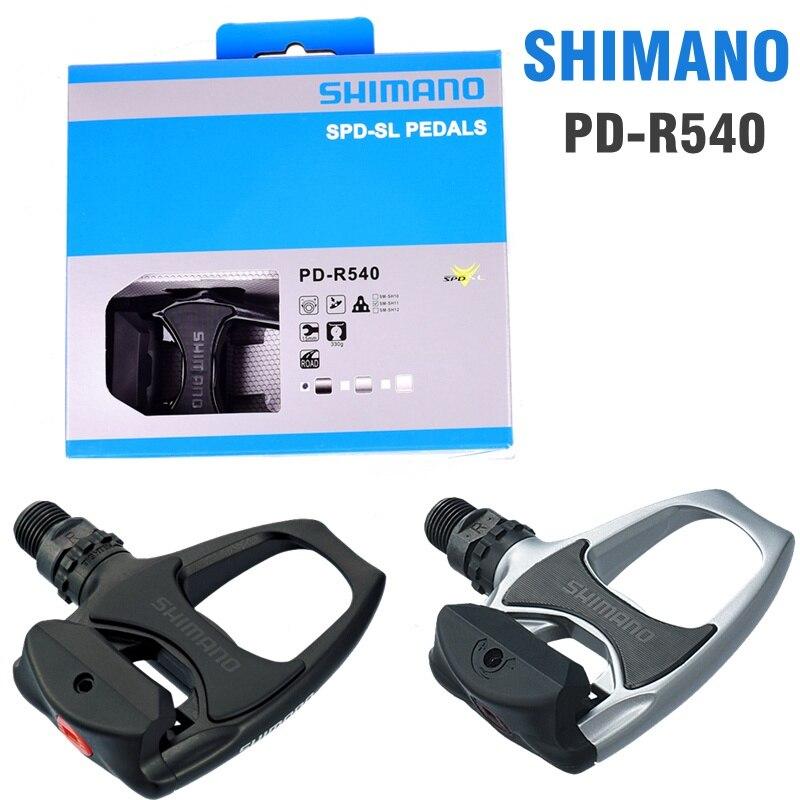 SHIMANO R540 route pédales de vélo SPD-SL Auto-Verrouillage SPD Pédales Composants En Utilisant pour Vélo Racing PK PD R550 Pédales