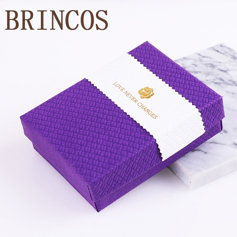 2019 Decorative Ring Paper Square Jewelry Storage Earrings Necklace Engagement Bracelet Display Accessories Multi-color Gift Box