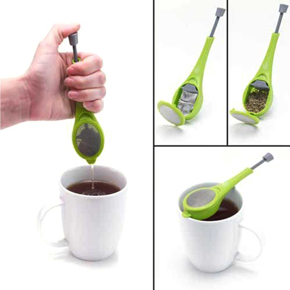Infusor de chá Embutido Êmbolo Filtro Tea & Coffee Tea & Coffee Manusear o Recipiente Reutilizável Saudável Intenso Sabor Saco de Chá Liquidificador