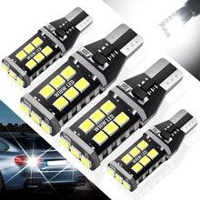 цена на 4pcs T15 W16W LED Bulbs 921 920 912 Canbus Error Free Backup Light 2835 SMD 6000K White Auto Car Reverse Parking Lamp DC 12V