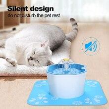 Автоматический фонтан для воды для кошек, собак, кошек, домашних питомцев, миска, Диспенсер 1,5 л, Электрический фонтан для воды для собак с кабелем USB м