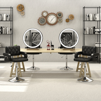 Panana Modern Adjustable Beauty Salon Chair Barber Chairs Tub Hairdressing Hair Cut Leather White / Black