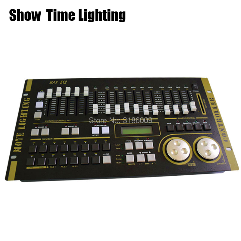 SHOW TIME Max 512 DMX Controller Stage Light MAX 512 Master Console For XLR-3 Led Par Beam Moving Head Light Stage Effect Light