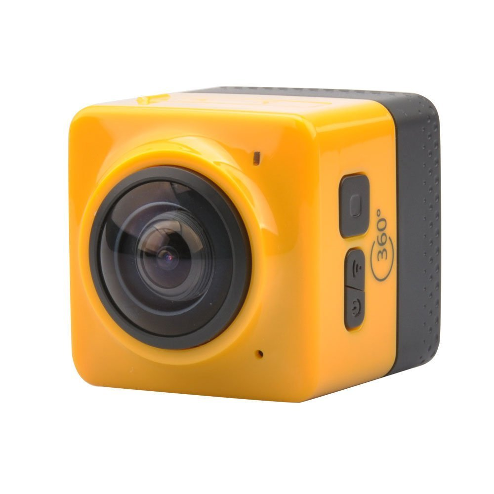 360 Wifi Angle Action Camera Sports Cam Recorder With Standard 1 4 Screw Interface Yellow