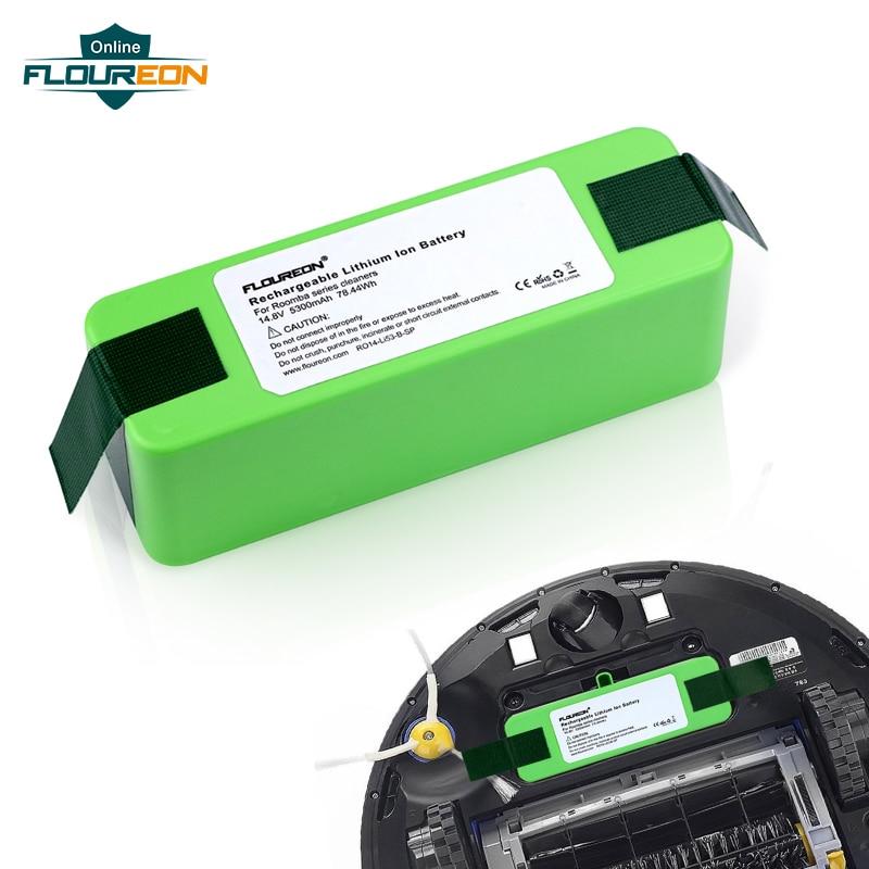 14.8 V 5300 mAh Batterie Li-ion Rechargeable pour iRobot Roomba 531 532 563 570 590 625 650 780 R3 871 880