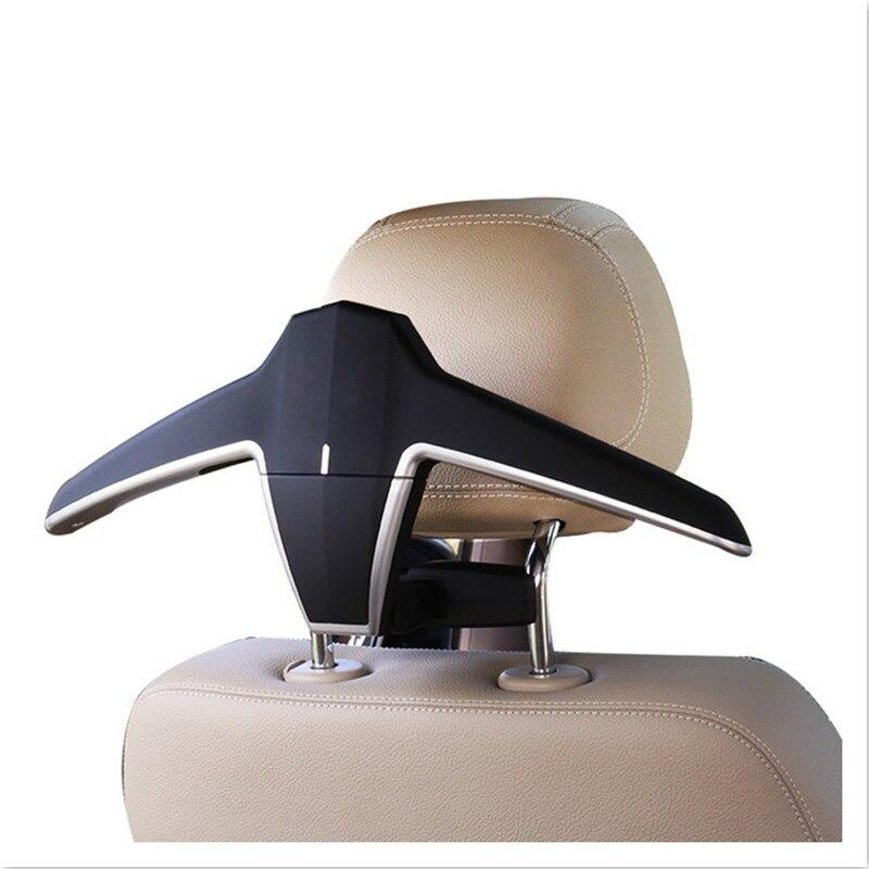 Support de voiture chaise arrière cintre voiture intérieur manteau cintre voiture ABS siège arrière Clip vêtements costume veste Slip cintre