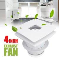 4'' 12W 220V Exhaust Fan Kitchen Wall Ventilator Window Ventialtion Cooling Vent Extractor Quiet Bathroom Toilet Air Fan