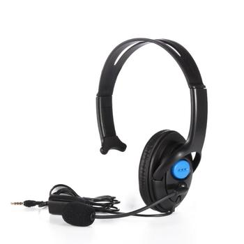 Fashion 3.5mm Wired Gaming Headset Single Side Speaker Headphones with Adjustable Mic For PS4 Smartphone PC
