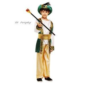Image 5 - Bambini Ragazzi Arabo Principe Cosplay Ragazzo Aladdin Principe costume di halloween per i bambini di Carnevale Festa di Compleanno Di Natale