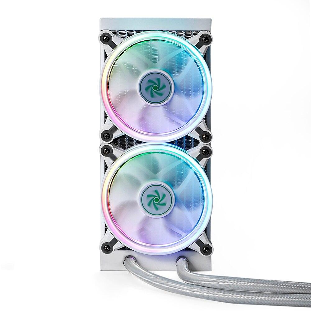 Dégagement refroidisseur Pioneer 240mm CPU refroidissement par eau Double radiateur PWM contrôle 2000 tr/min vitesse de rotation avec lumière rvb colorée
