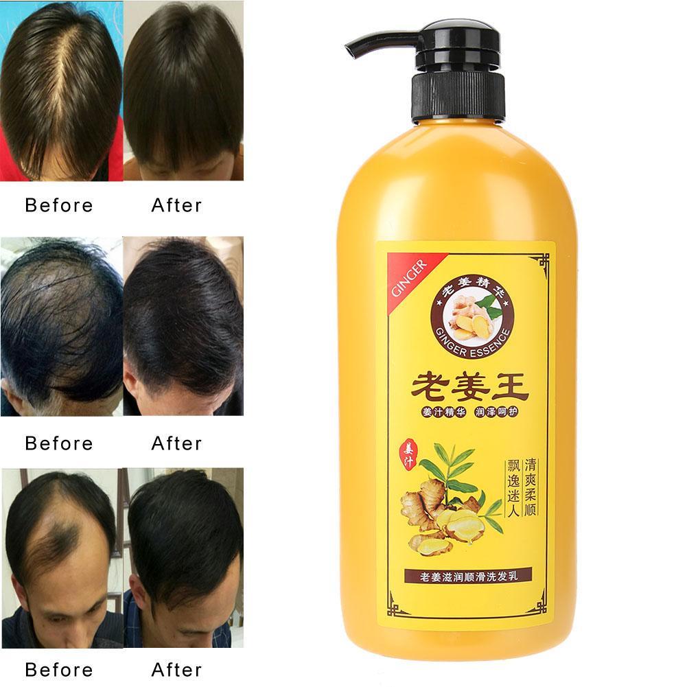 750 ml naturel gingembre soin des cheveux nourrissant hydratant contrôle de l'huile naturel gingembre extraits cheveux shampooing